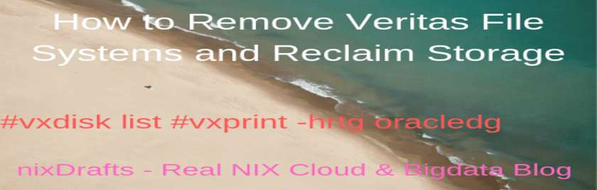 How to Remove Veritas File System