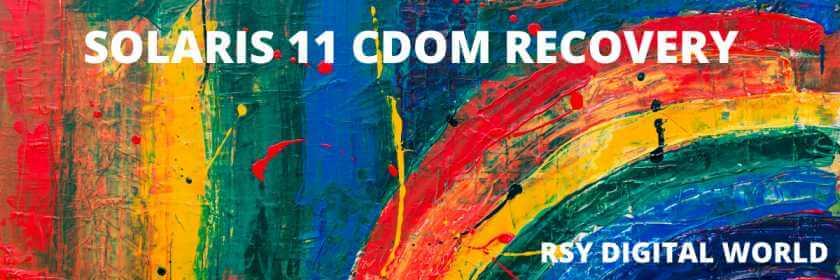 Solaris 11 CDOM Recovery